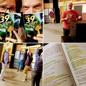 The 39 Steps rehearsals