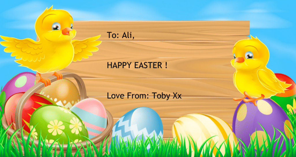 Happy Easter from Toby